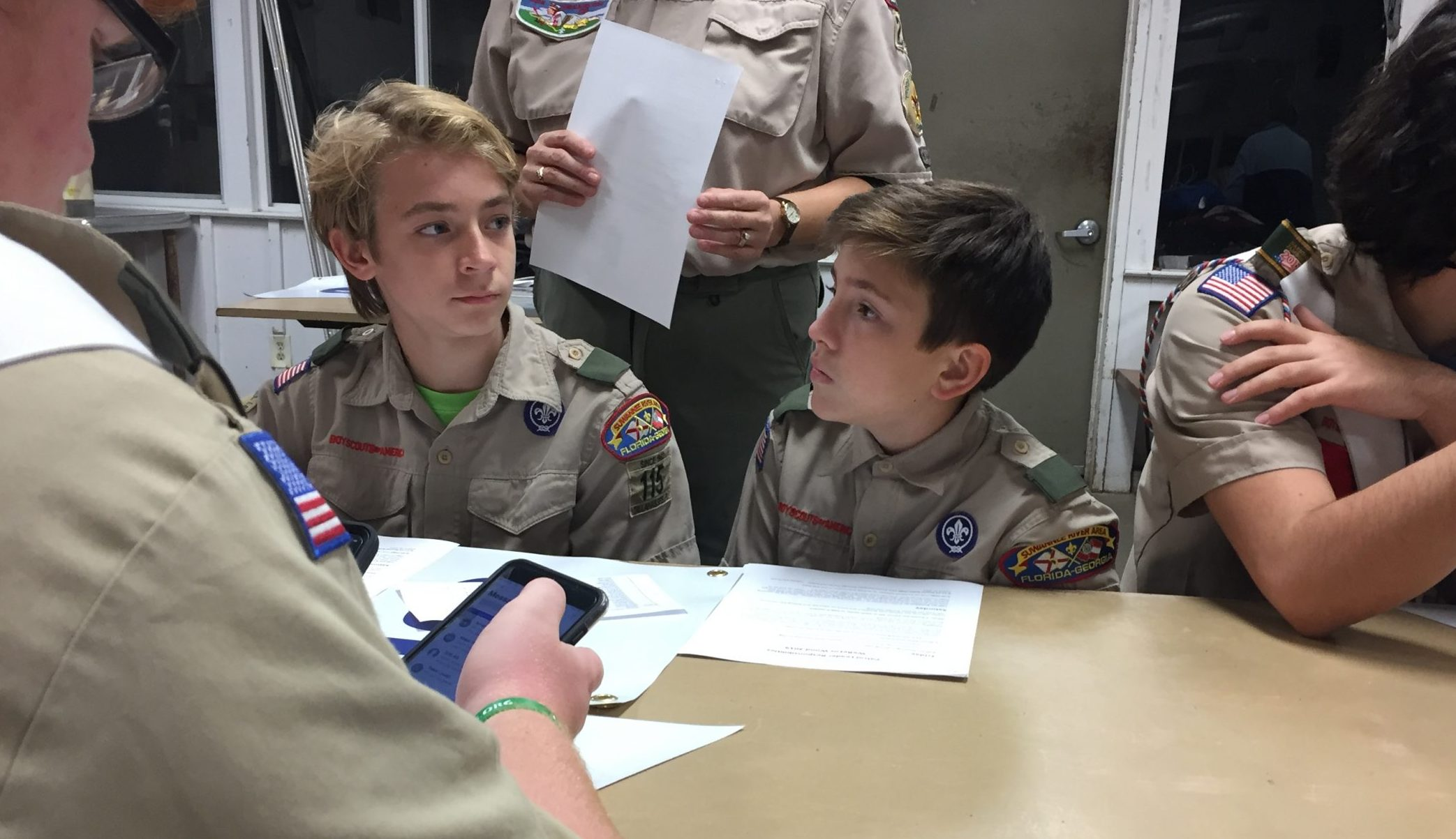 Scouts listening