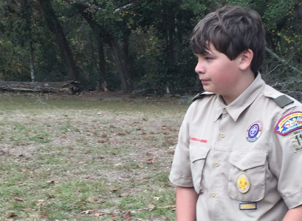 Scout, David at Webelos Woods