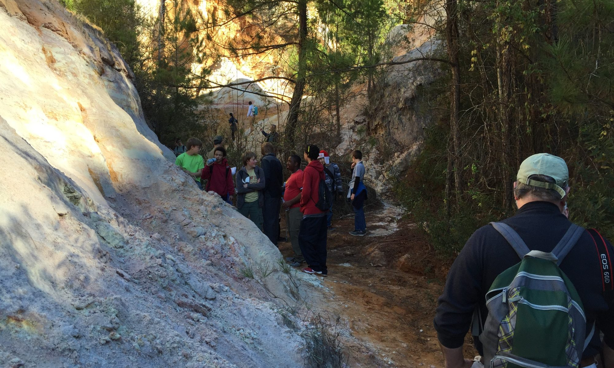 Scouts in Providence Canyon