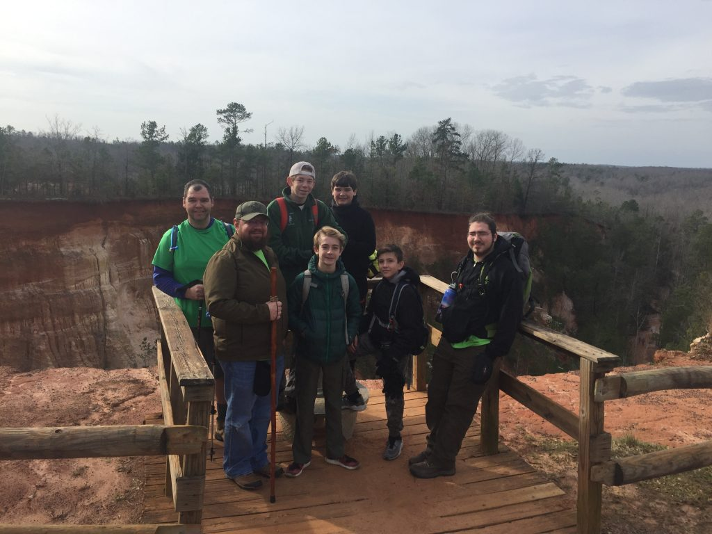 Troop 115 at Providence Canyon